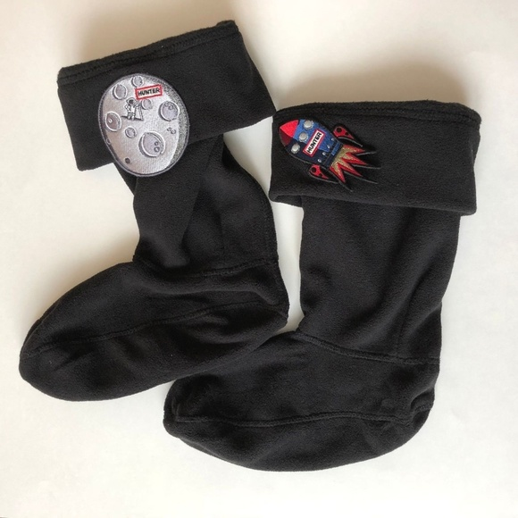840d55fa9 Hunter Accessories | Kids Boot Welly Fleece Socks Black 57k | Poshmark